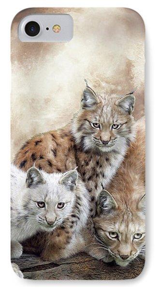 Lynx Moon IPhone Case by Carol Cavalaris