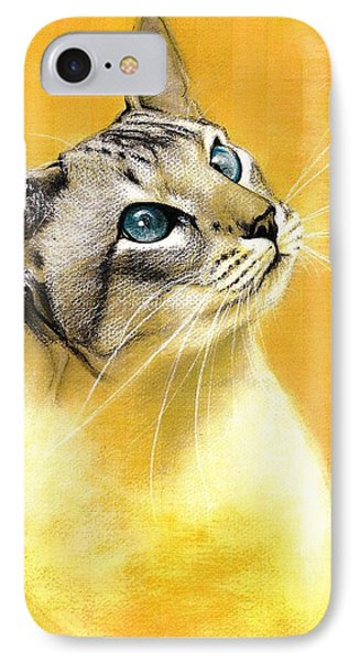 IPhone Case featuring the drawing Lynx Point Siamese by VLee Watson