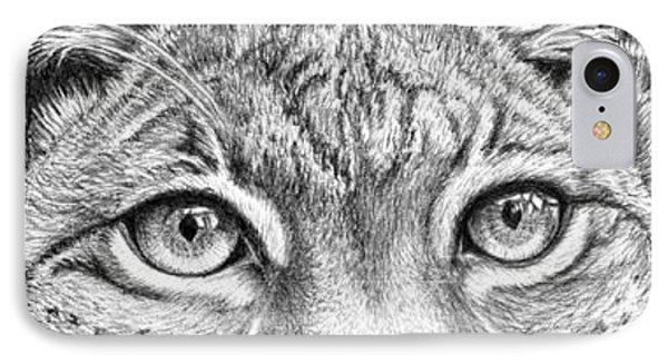 Lynx Portrait IPhone Case by Iren Faerevaag