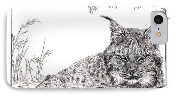 Lynx IPhone Case by Rita Polizzi