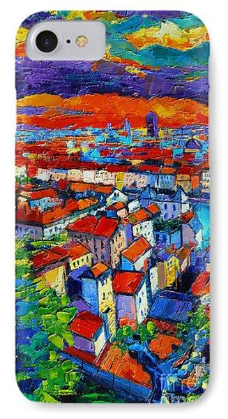 Lyon View 1 IPhone Case by Mona Edulesco