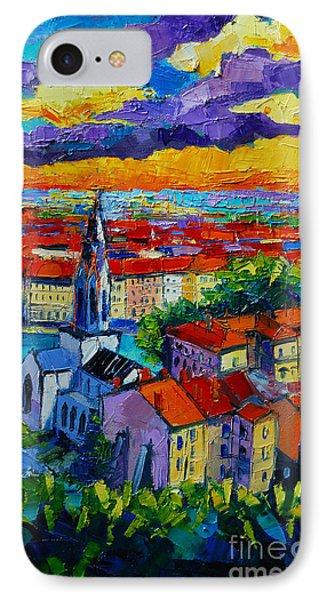 Lyon View 3 IPhone Case by Mona Edulesco