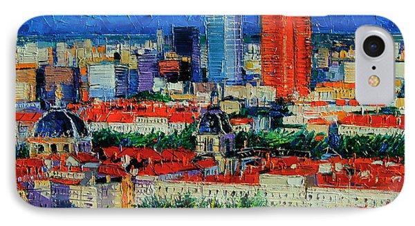 Lyon View From Jardins Des Curiosites  IPhone Case by Mona Edulesco