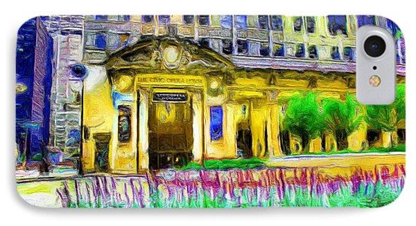 Lyric Opera House Of Chicago IPhone Case by Ely Arsha