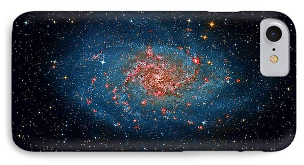 M33 Spiral Galaxy IPhone Case by Celestial Images