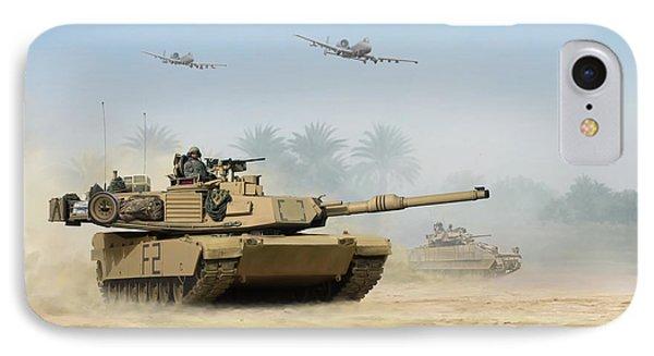 M1a2 Abrams Phone Case by Mark Karvon