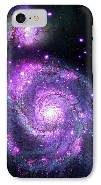 M51 Whirlpool Galaxy IPhone Case by Nasa/cxc/wesleyan Univ./r.kilgard, Et Al/stsci