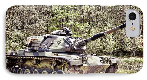 M60 Patton Tank IPhone Case by Olivier Le Queinec