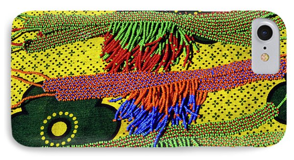 Maasai Beadwork Phone Case by Michele Burgess
