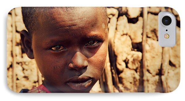 Maasai Child Portrait In Tanzania Phone Case by Michal Bednarek