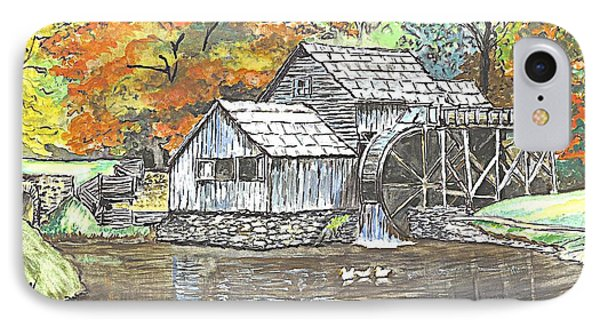 Mabry Grist Mill In Virginia Usa IPhone Case by Carol Wisniewski