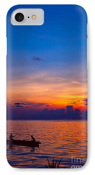 Mabul Island Sunset Borneo Malaysia Phone Case by Fototrav Print
