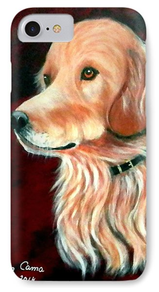 IPhone Case featuring the painting Mac. The Golden Retriever by Fram Cama