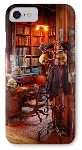 Macabre - In The Headhunters Study Phone Case by Mike Savad