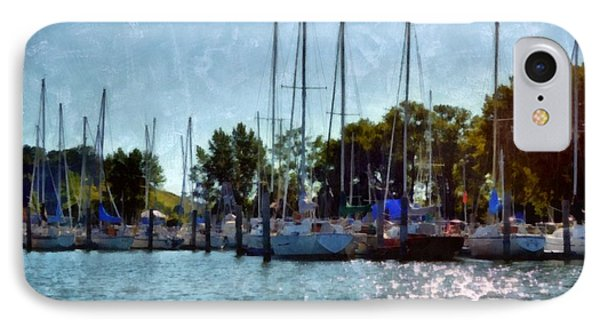 Macatawa Masts Phone Case by Michelle Calkins
