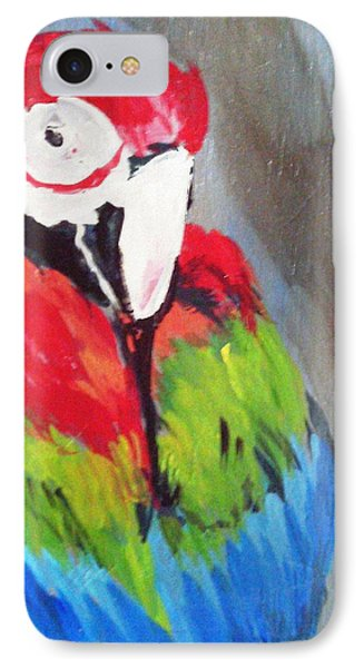 Macaw 2 IPhone Case by Loretta Nash