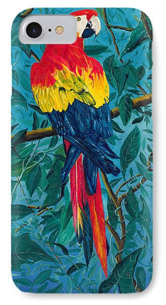 Macaw IPhone Case by Carl Genovese