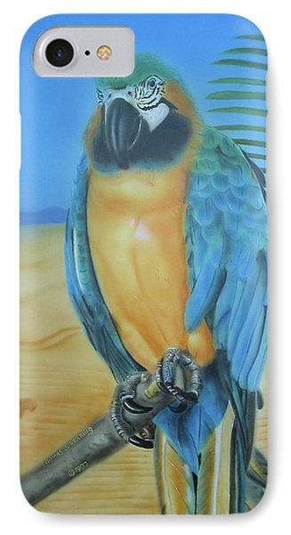 IPhone Case featuring the painting Macaw On A Limb by Thomas J Herring