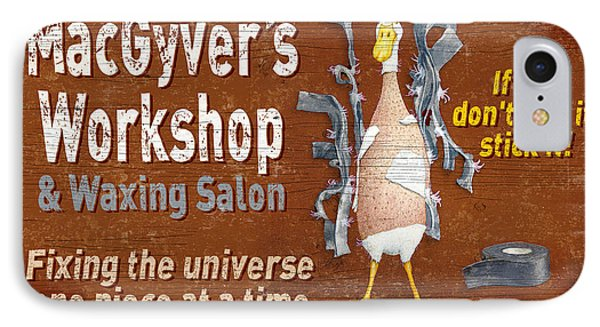 Macgyvers Workshop IPhone Case by JQ Licensing