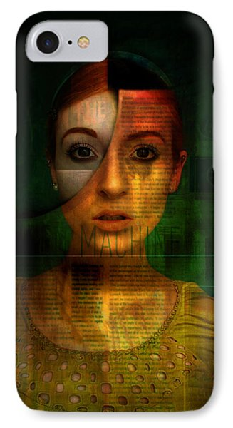 IPhone Case featuring the digital art Machine by Kim Gauge