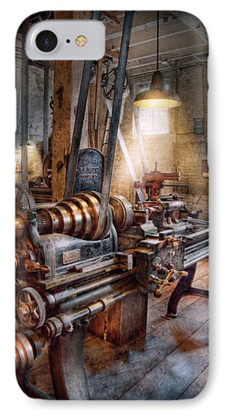 Machinist - Fire Department Lathe Phone Case by Mike Savad