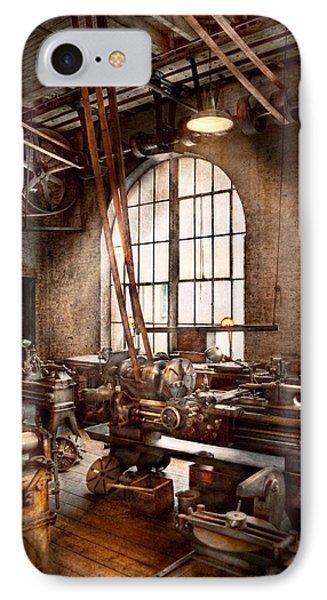 Machinist - I Like Big Tools IPhone Case by Mike Savad