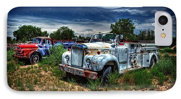 IPhone Case featuring the photograph Mack Fire Truck And Graffiti Fire Truck by Ken Smith