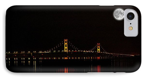 Mackinac Bridge And Moon IPhone Case