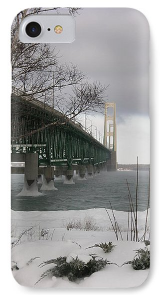 Mackinac Bridge At Christmas IPhone Case