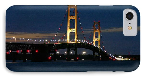 Mackinac Bridge At Dusk IPhone Case