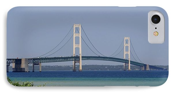 Mackinac Bridge Blue IPhone Case