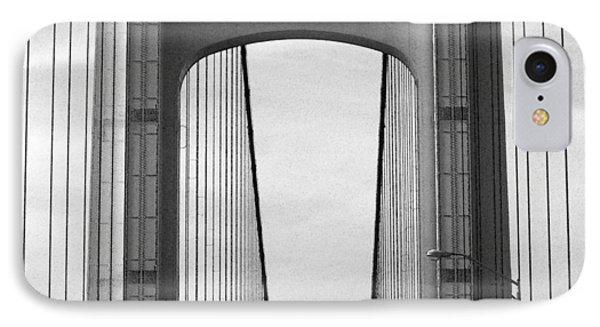 Mackinac Bridge Detail 2 Bw IPhone Case