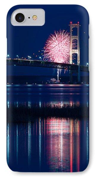 Mackinac Bridge Fireworks IPhone Case
