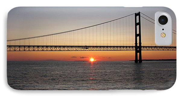 Mackinac Bridge Sunset IPhone Case