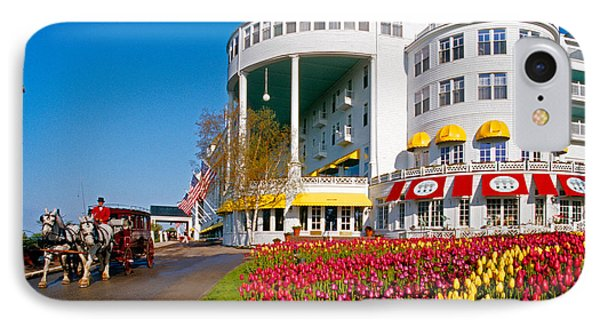 Mackinac Grand Hotel IPhone Case by Dennis Cox WorldViews