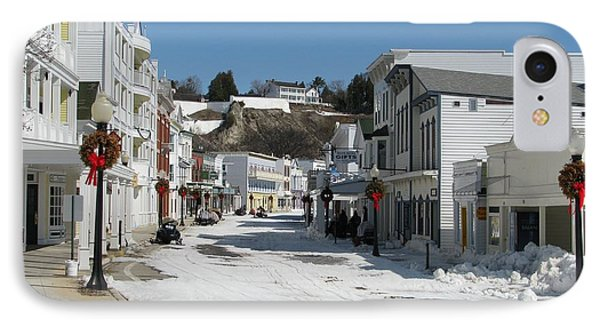 Mackinac Island In Winter IPhone Case by Keith Stokes