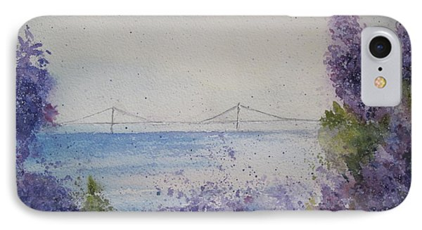 IPhone Case featuring the painting Mackinac Island Lilacs by Sandra Strohschein