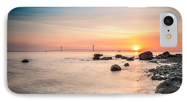 Mackinac Sunrise IPhone Case by Larry Carr