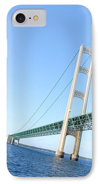 IPhone Case featuring the photograph Mackinaw Bridge North Tower by Bill Woodstock