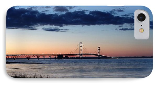 Mackinaw Bridge Twilight IPhone Case