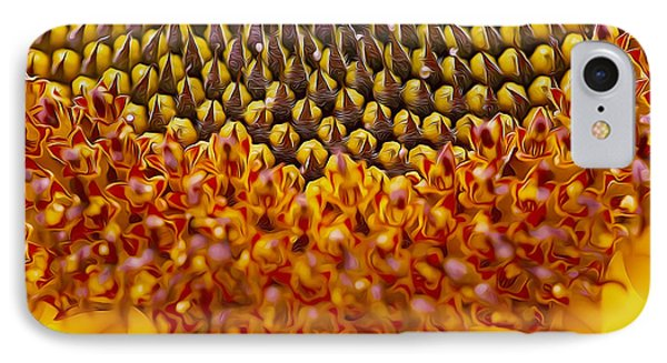 Macro Close Up Of A Golden Yellow Sunflower IPhone Case