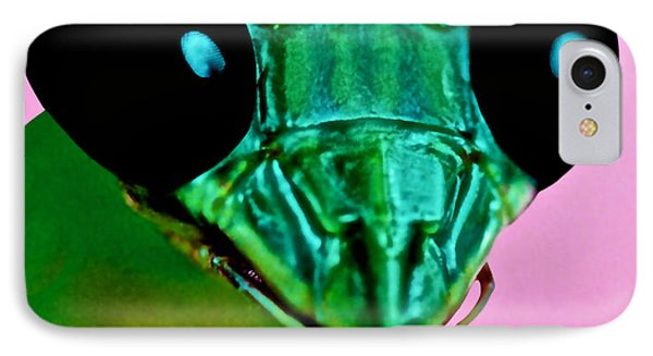 Macro Closeup Of The Praying Mantis Phone Case by Leslie Crotty