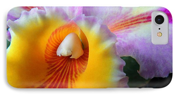 Macro Orchid IPhone Case by Kristine Merc