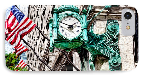 Macy's Clock In Chicago IPhone Case by Paul Velgos