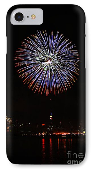 Fireworks Over The Empire State Building Phone Case by Nishanth Gopinathan