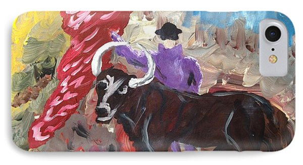 Mad Bull Has Lost His Way IPhone Case by Edward Paul
