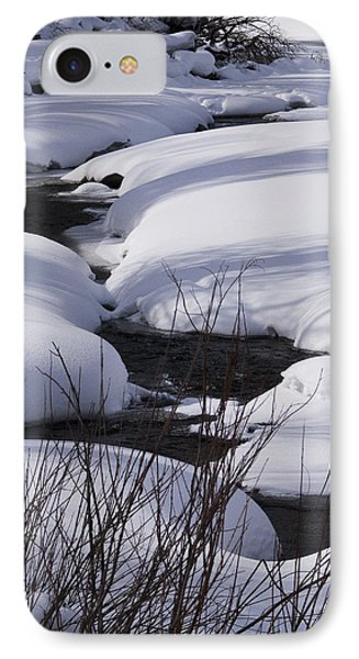 IPhone Case featuring the photograph Mad Creek Winter At Elk Confluence by Daniel Hebard