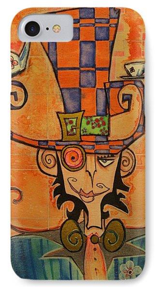 Mad Hatter Phone Case by Ellen Henneke