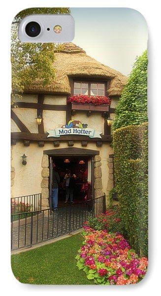 Mad Hatter Fantasyland Disneyland 01 IPhone Case by Thomas Woolworth