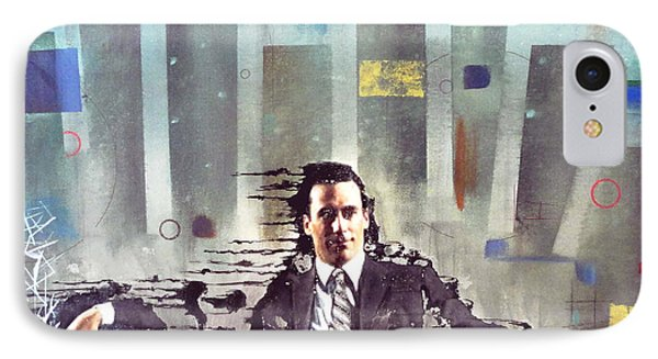 Mad Men Disintegration Of Don Draper Phone Case by John Lyes